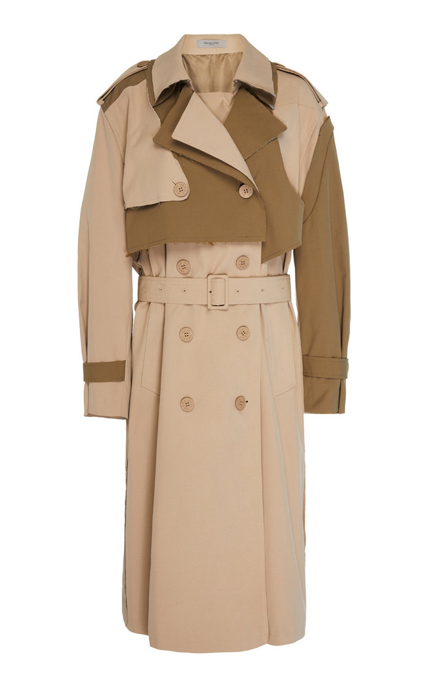 Preen Line Adel Belted Twill Trench Coat Size: XS in neutral