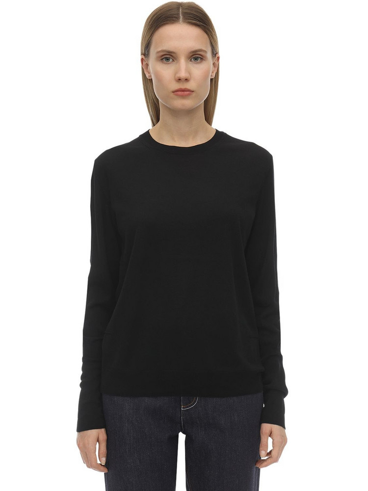 FALKE Extrafine Wool Knit Sweater in black