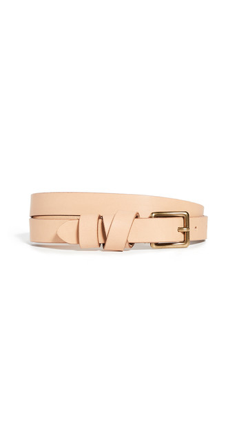 Madewell Leather Crisscross Skinny Belt in natural
