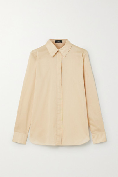Theory - Cotton-voile Shirt - Sand