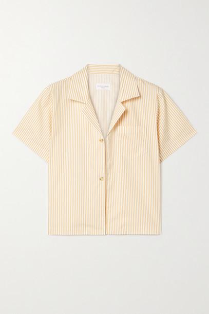 Still Here - Havana Striped Cotton-poplin Shirt - Mustard