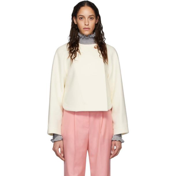 Chloe Off-White Wool Cropped Jacket