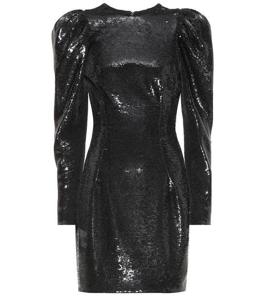 Alexandre Vauthier Sequined minidress in black