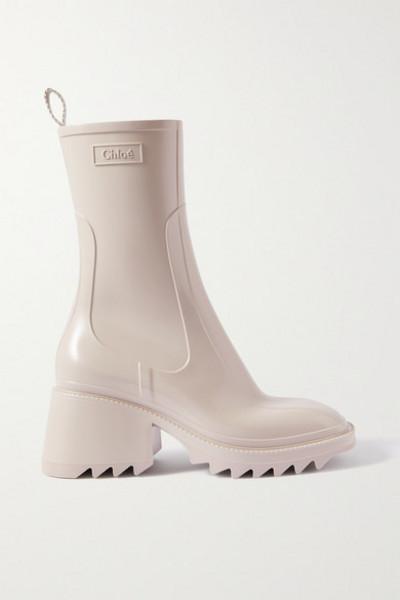 Chloé Chloé - Betty Rubber Boots - Beige