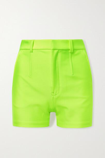 Alexander Wang - Neon Stretch-jersey Shorts - Yellow