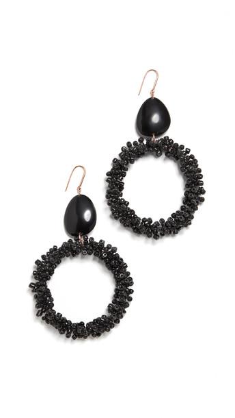 Isabel Marant Beaded Earrings in black