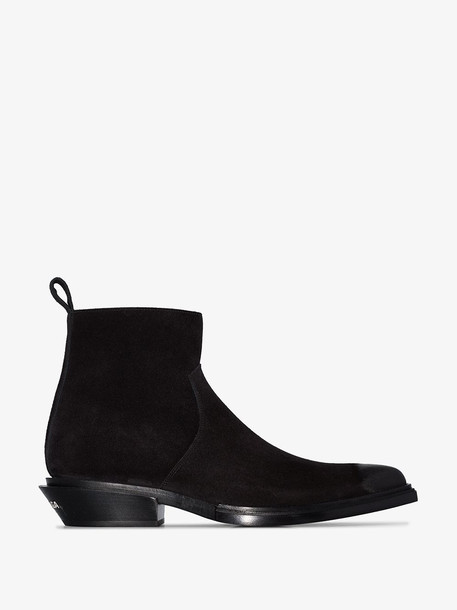 Balenciaga black pointed toe ankle boots