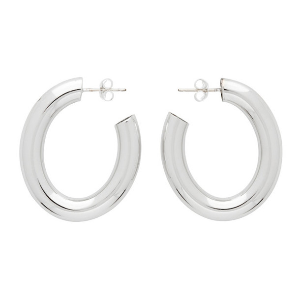 Laura Lombardi SSENSE Exclusive Silver Mini Curve Earrings