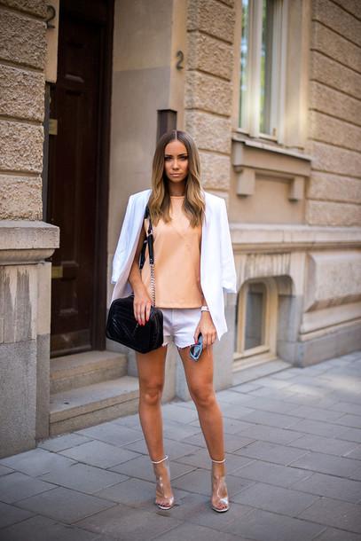 lisa olsson top jacket bag shorts shoes