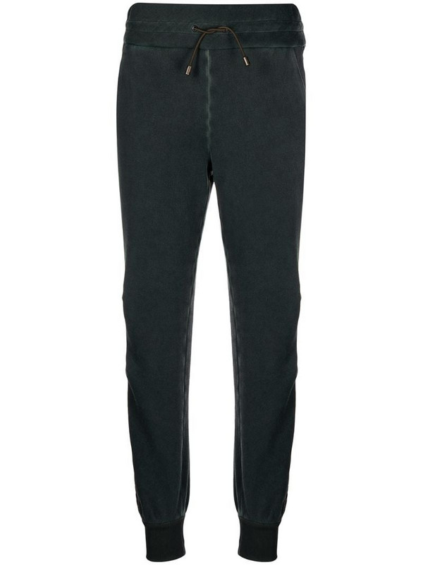 Mr & Mrs Italy sequin-stripe tapered track pants in green