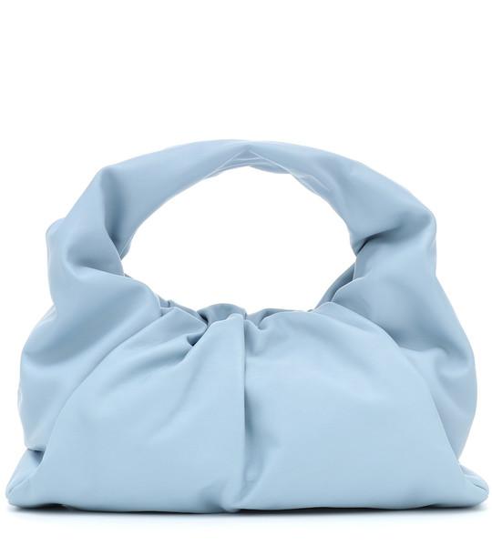 Bottega Veneta The Shoulder Pouch leather tote in blue