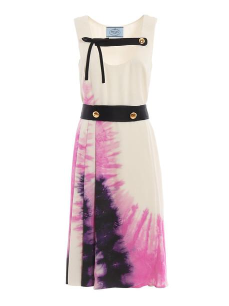 Prada Printed Dress in nero