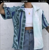 sweater,dark blue,designs,short sleeve,rug,light blue,stripes,cardigan,jacket,fuzzy coat
