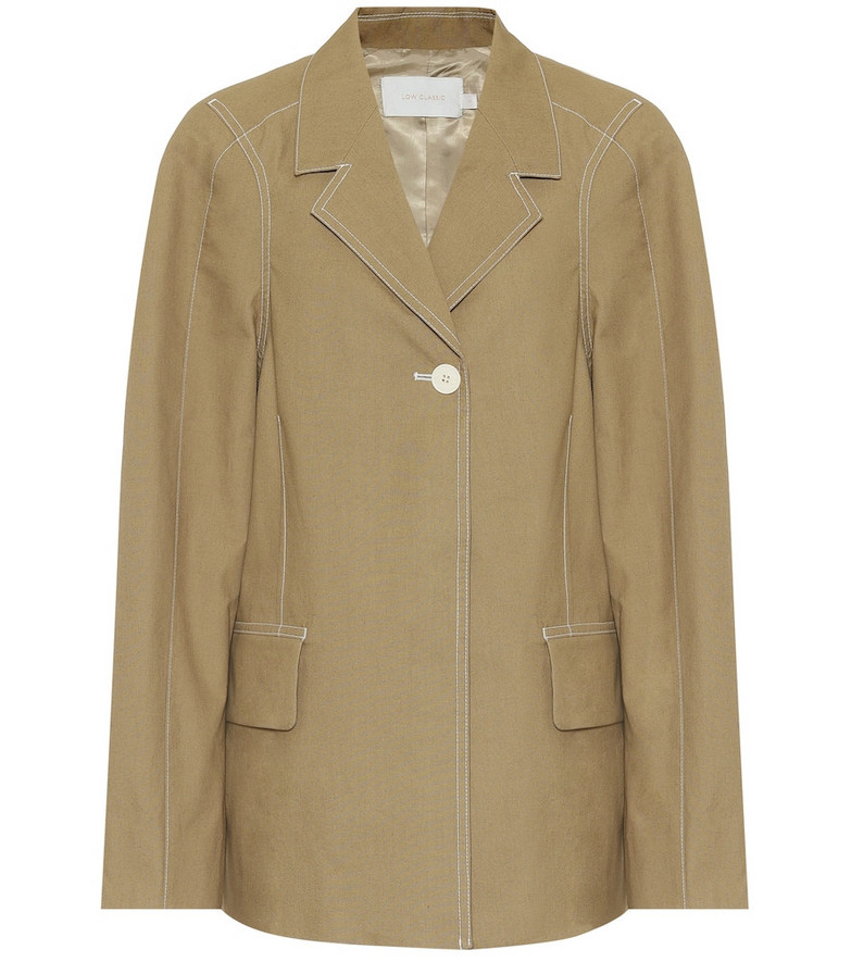 Low classic Cotton blazer in green