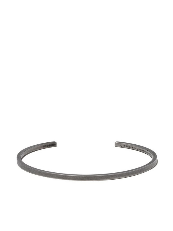 Le Gramme Le 7 ribbon bracelet in black / silver