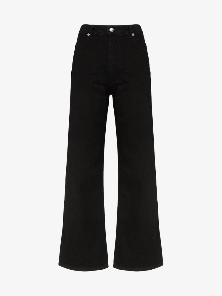 ECKHAUS LATTA High waist wide leg jeans in black