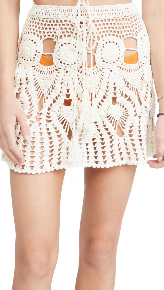TIARE HAWAII Music Festival Skirt in white