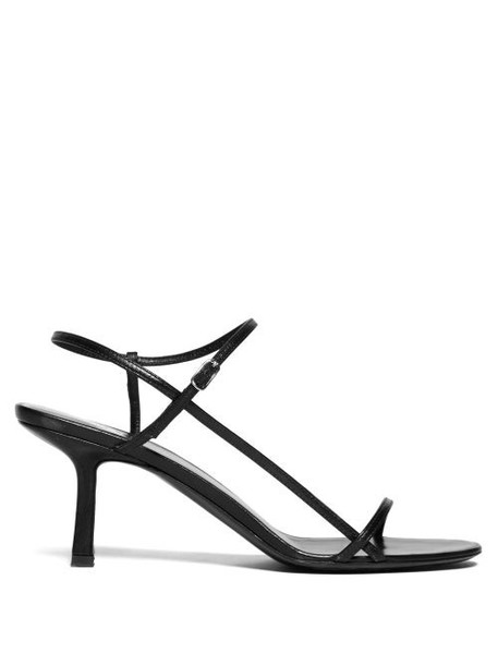 The Row - Bare Mid Heel Leather Sandals - Womens - Black