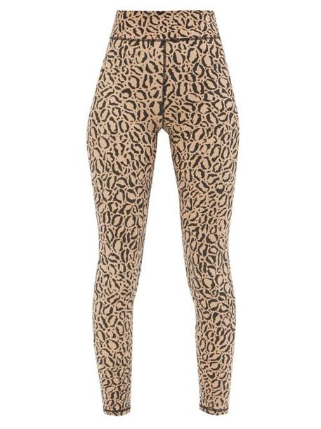 The Upside - Leopard-print High-rise Cropped Leggings - Womens - Leopard