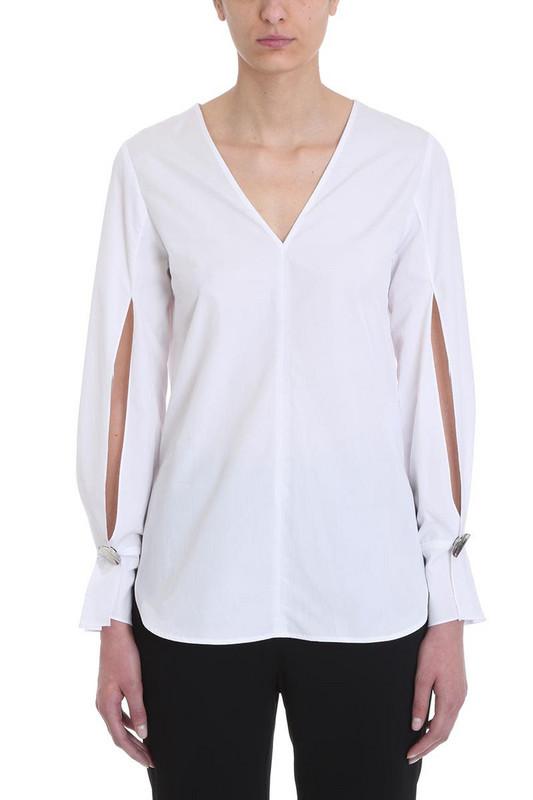 3.1 Phillip Lim V-neck Blouse in white