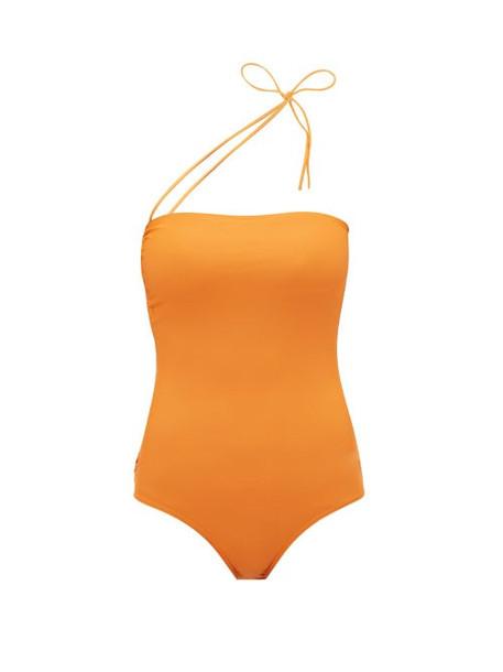 Jacquemus - Alassio One Shoulder Swimsuit - Womens - Orange