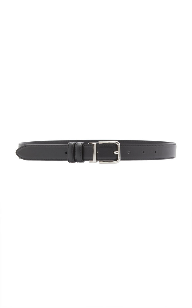 Dolce & Gabbana Leather Belt in black