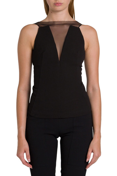 Rick Owens Larry Prong Top in nero