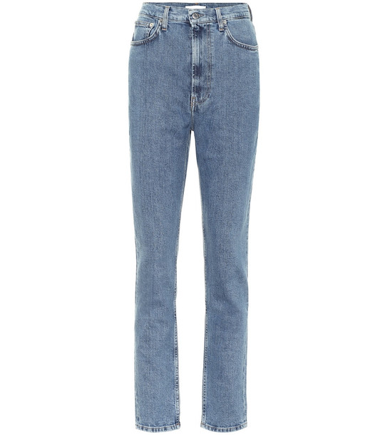 Helmut Lang High-rise slim jeans in blue