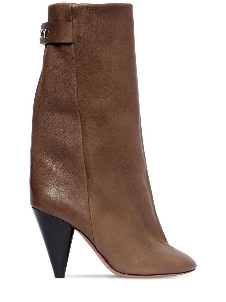 ISABEL MARANT 90mm Lakfee Tall Leather Boots in khaki