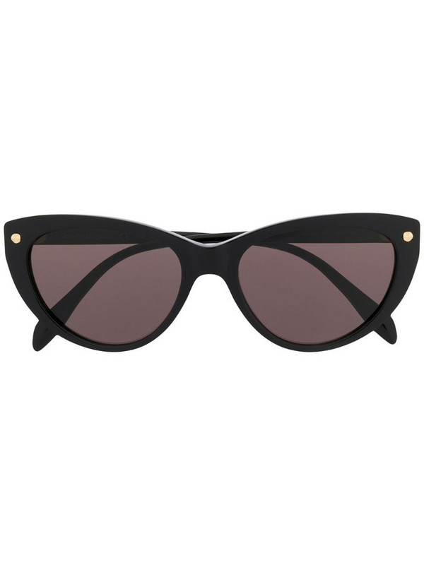 Alexander McQueen Eyewear cat eye sunglasses in black