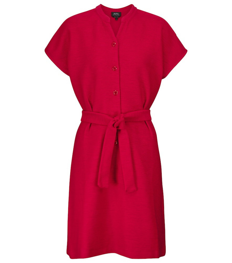 A.P.C. Nico cotton jersey minidress in red