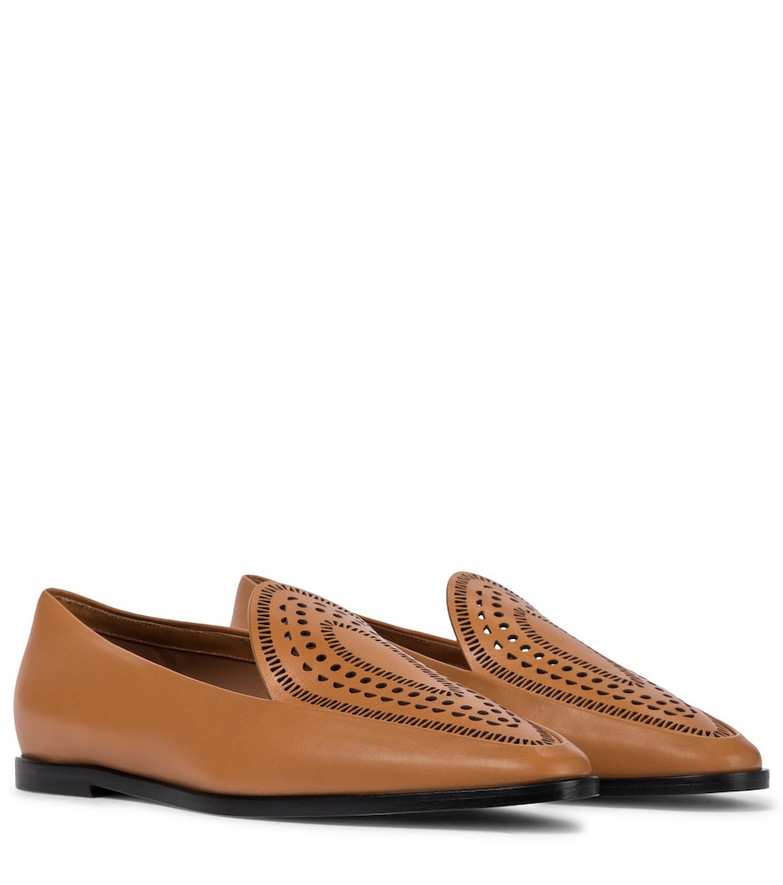 Alaïa Leather loafers in brown