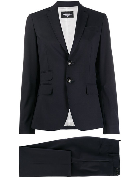 Dsquared2 two-piece trouser suit in blue