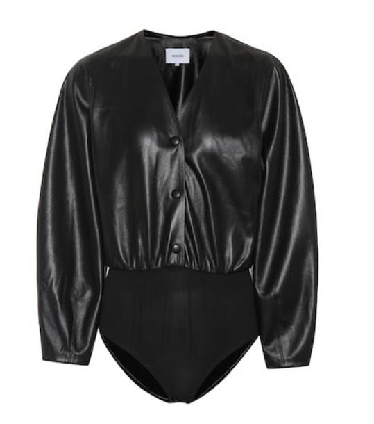Nanushka Exclusive to Mytheresa – Dara faux leather bodysuit in black