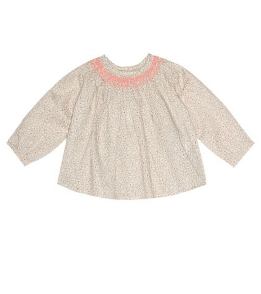 Bonpoint Griotte cotton top in pink