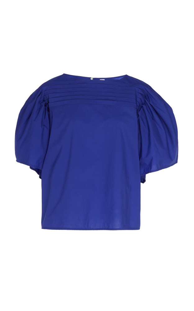 Merlette Canova Balloon Sleeve Blouse in blue