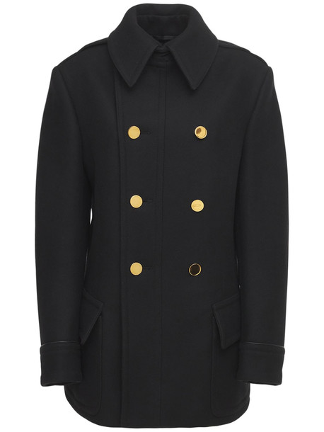 TOM FORD Double Breasted Cashmere Peacoat in black