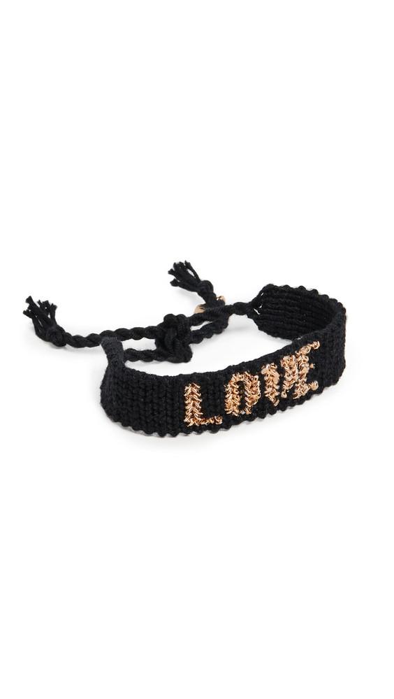 Maison Irem Love Bracelet in black