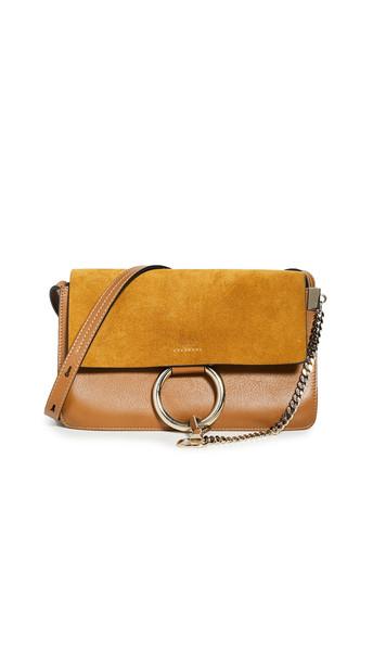 What Goes Around Comes Around Chloe Brown Leather Suede Faye Small Bag