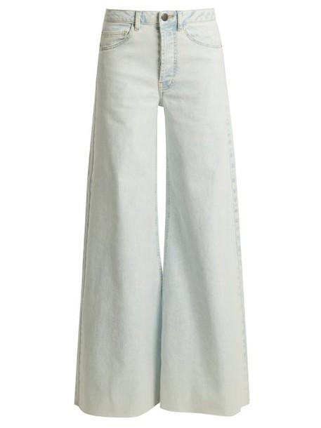 Raey - Loon Wide Leg Jeans - Womens - Blue White