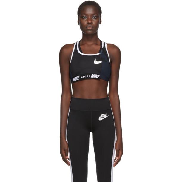 Nike Black Sacai Edition NRG Ga NI-11 Sports Bra