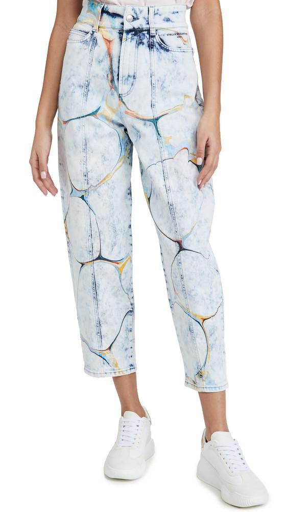 Stella McCartney High Rise Straight Leg Jeans in blue / denim