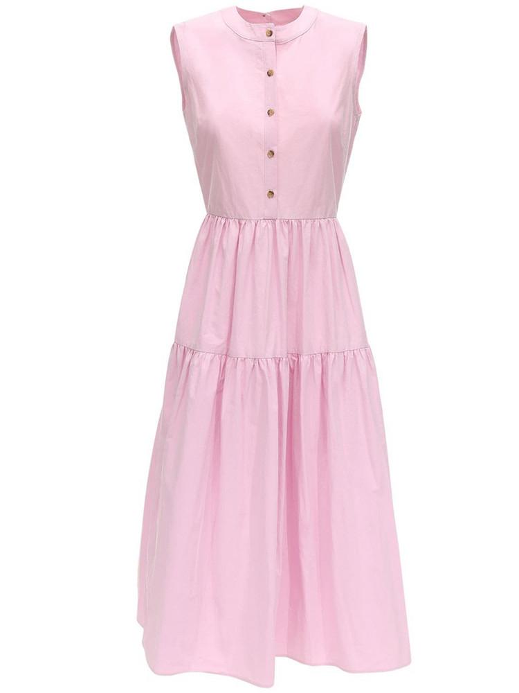 CIAO LUCIA Freya Cotton Poplin Midi Dress in pink