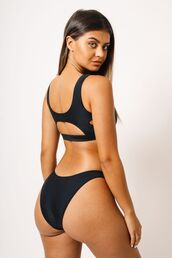 swimwear,kaohs swimwear,ishine365,shop ishine365,black bikini bottom,full coverage bikini bottom,seamless bikini bottom