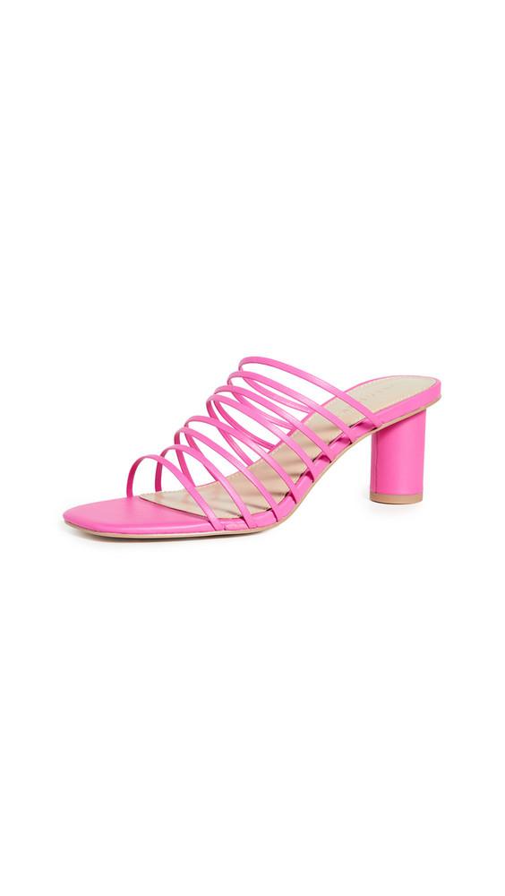 Villa Rouge Sas Slides in pink