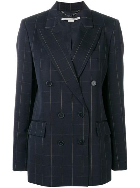 Stella McCartney checked blazer in blue