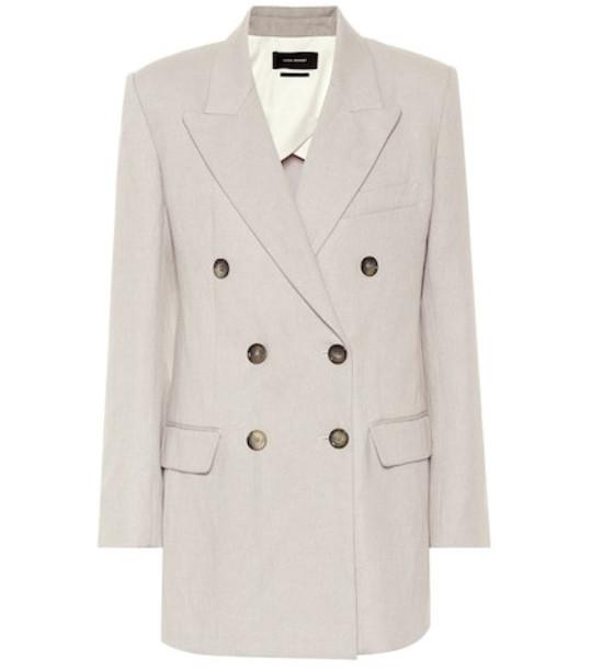Isabel Marant Kleigh cotton and linen blazer in grey