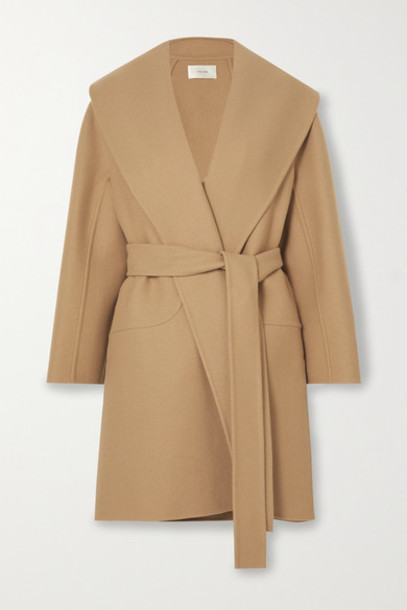 The Row - Maddy Belted Wool-blend Coat - Beige