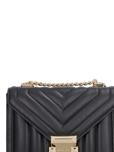Michael Kors Whitney Small Leather Quilted Shoulder Bag in black