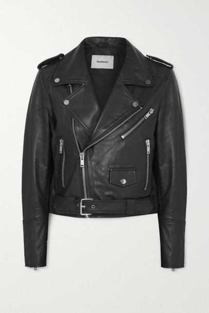 Deadwood - Joan Leather Biker Jacket - Black